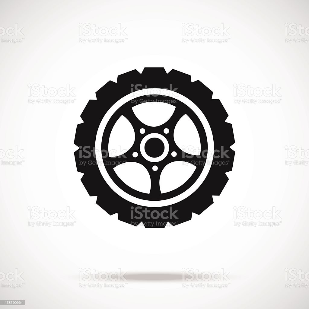 Tire icon. Black vector icon. vector art illustration