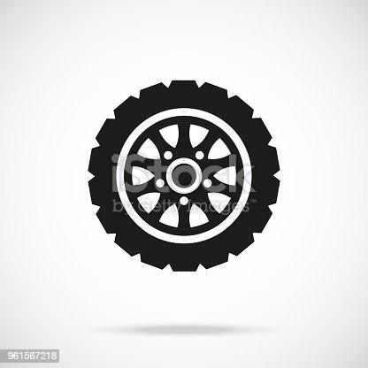 istock Tire icon. Car wheel. Vector icon 961567218