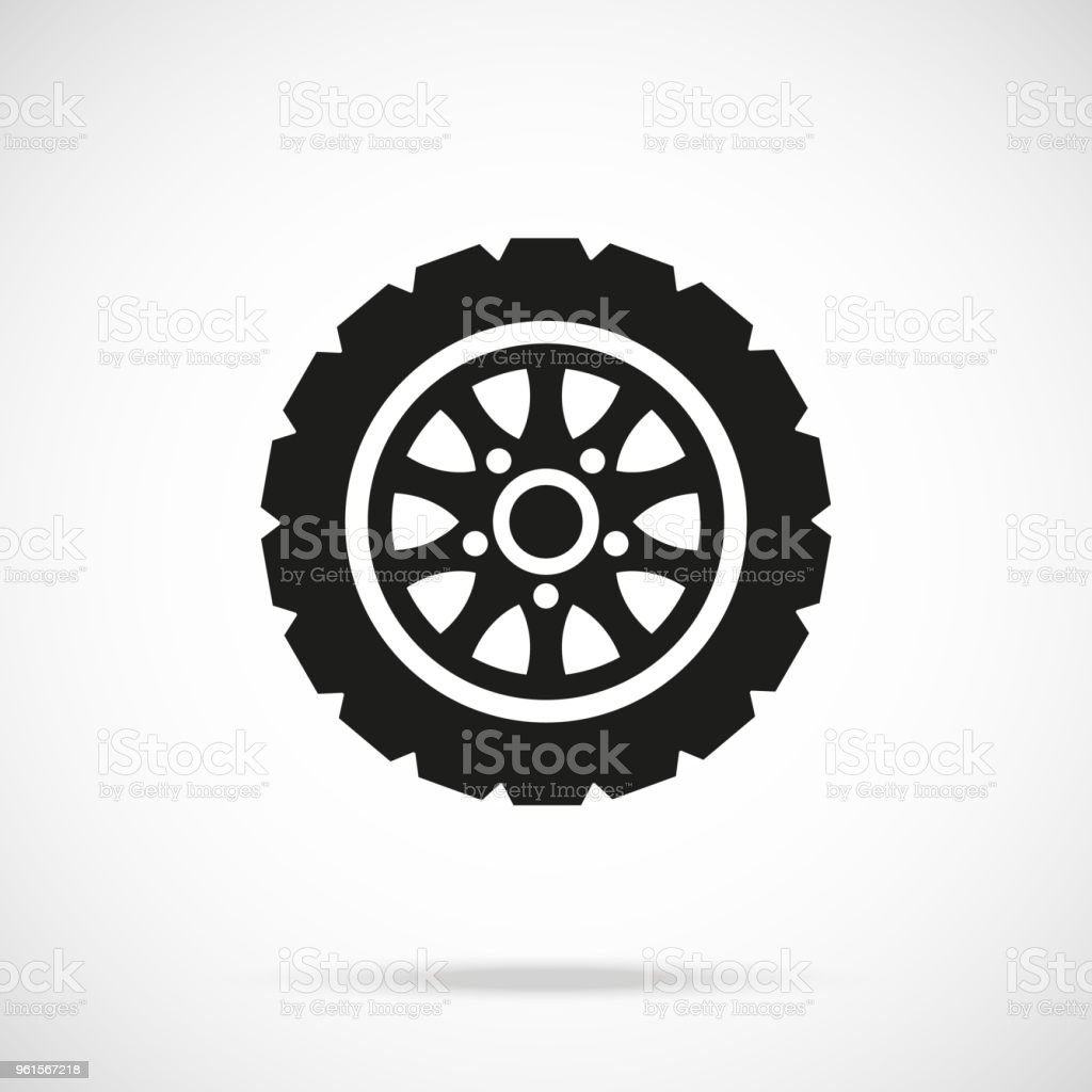 Tire icon. Car wheel. Vector icon vector art illustration