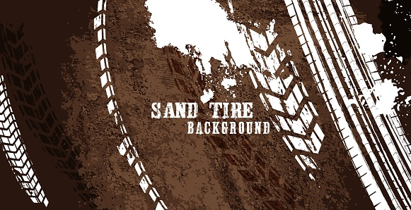 Tire Poster Sand Background