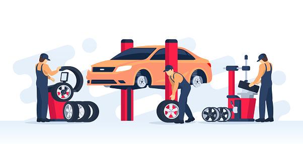 Tire service concept.