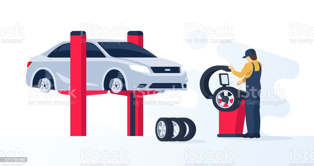 Tire Service Concept Stock Illustration Download Image Now Istock