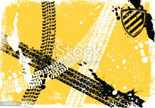 Tire Track Background .Editable Eps8 vector file.