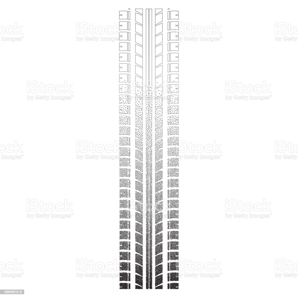 Däck spår prickade siluett - Royaltyfri Abstrakt vektorgrafik
