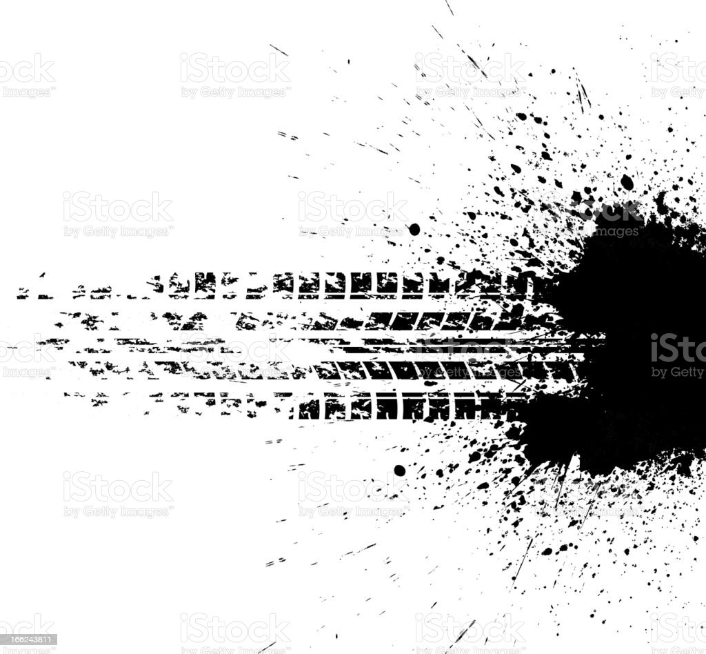 Tire track royalty-free tire track stock vector art & more images of black color