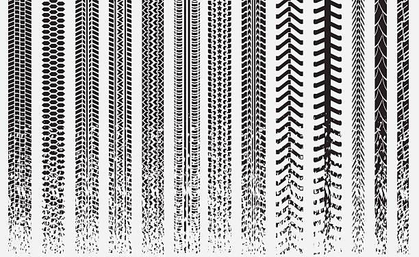 Neumático track_vector - ilustración de arte vectorial