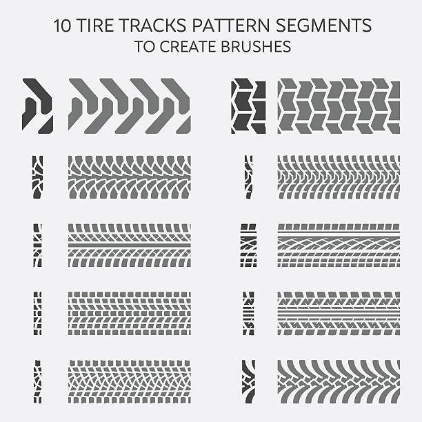 royalty  tire tracks clip art vector images illustrations istock