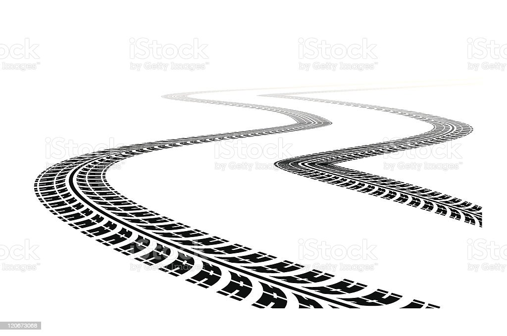 tire marks clip art, vector images & illustrations - istock