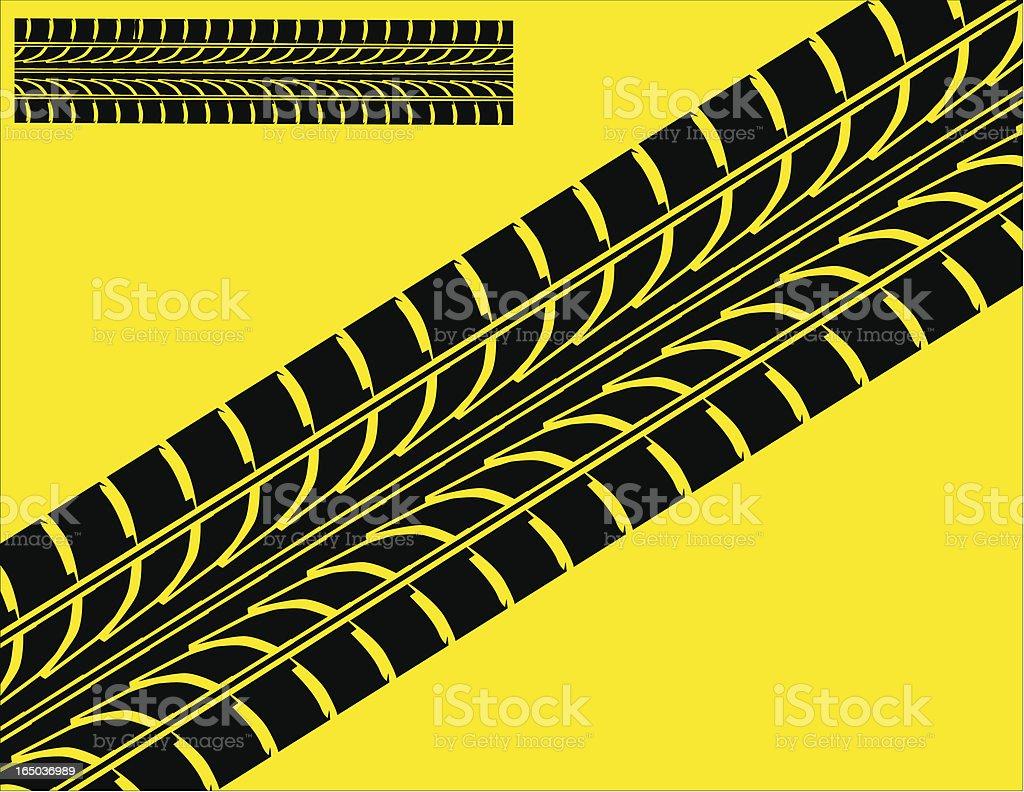 Tire Tracks royalty-free stock vector art