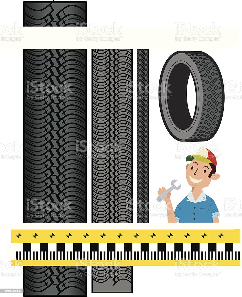 Tire Tracks royalty-free tire tracks stock vector art & more images of car