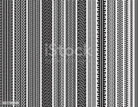 istock Tire Tracks (Seamless) 637296038