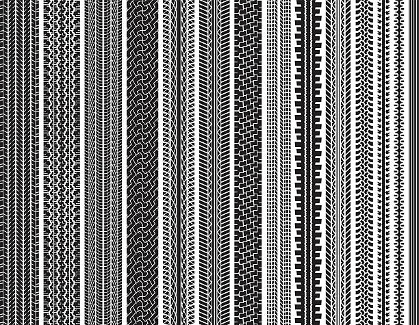 Tire Tracks (Seamless) Tire tracks. This image is seamless. tires stock illustrations