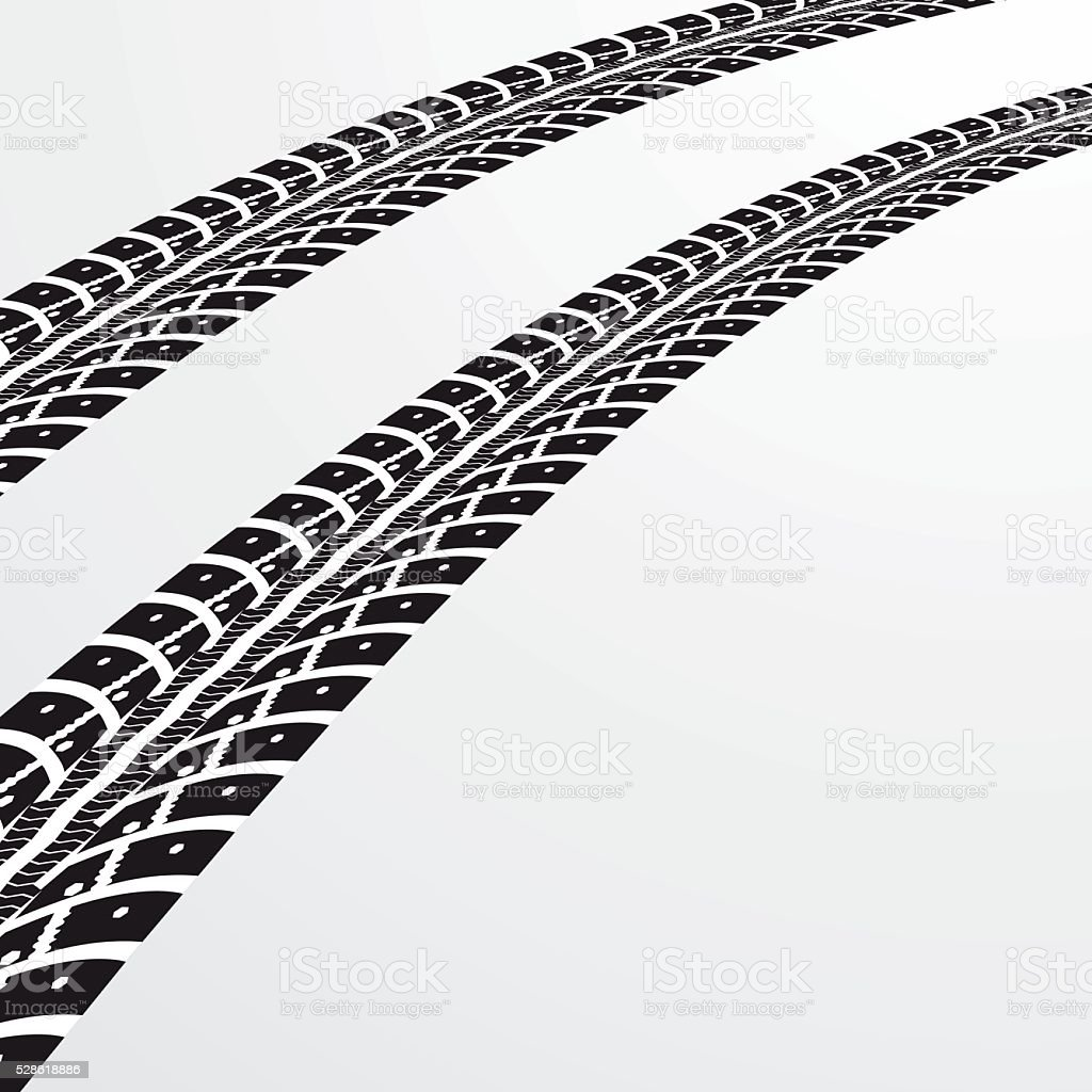 tire tracks vector stock vector art more images of abstract rh istockphoto com bike tire track vector tire track vector brush