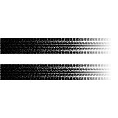 Black tire track silhouette with dots isolated on white
