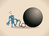 Business Characters Full Length Vector art illustration.Copy Space.