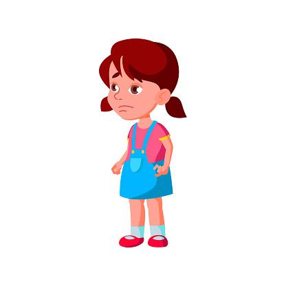 tired little girl in pediatrist doctor cabinet cartoon vector