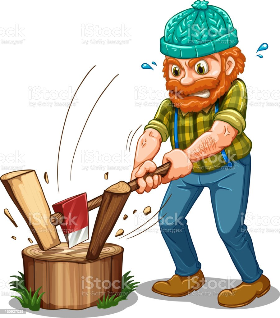 tired lumberjack royalty-free stock vector art
