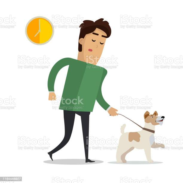 Tired man in casual clothes walking with his dog vector id1154446927?b=1&k=6&m=1154446927&s=612x612&h=4kif4jawidzwrv56bm18htaxqjbsz47kg7pyxzkqs7y=