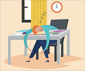 istock Tired of work 1327133473