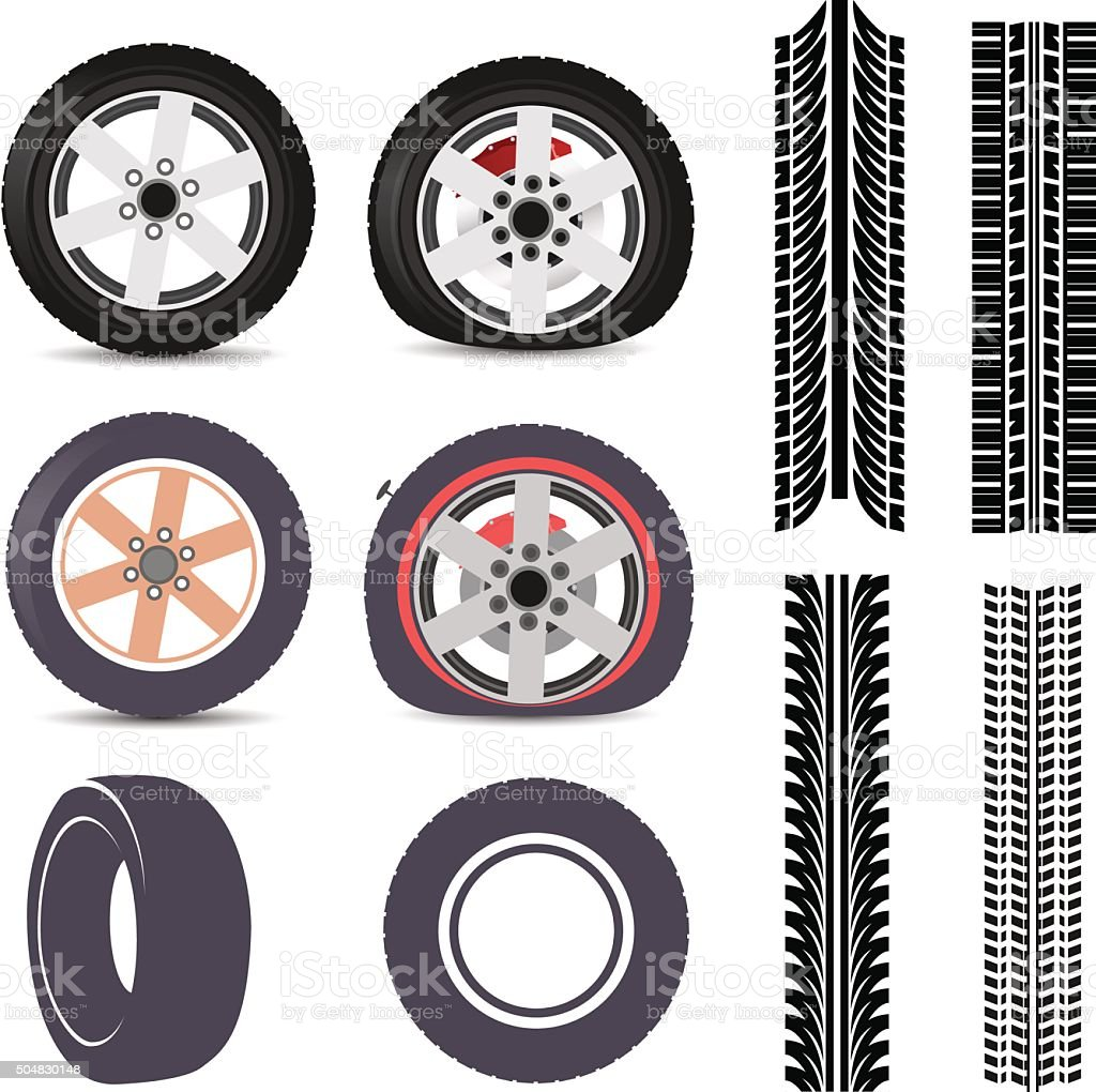 Tires vector art illustration