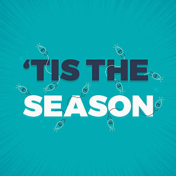 ilustraciones, imágenes clip art, dibujos animados e iconos de stock de tis the season holiday lights decoration - festividades y de temporada