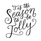 Tis The Season To Be Jolly Hand Lettering