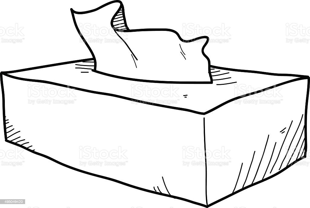 Tissue Box Doodle Stock Vector Art & More Images Of 2015