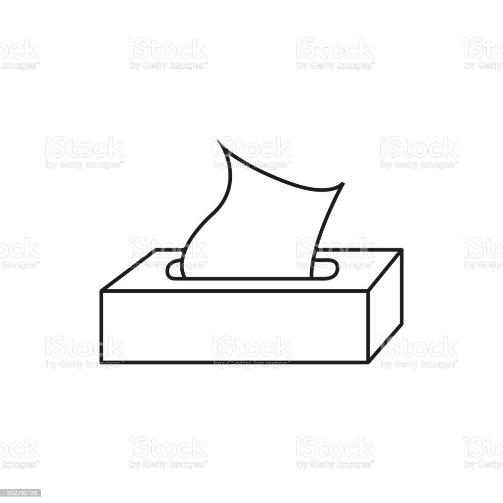 Royalty Free Tissue Box On White Clip Art  Vector Images