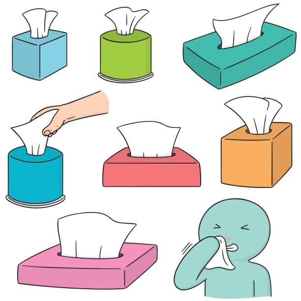 tissue box – artystyczna grafika wektorowa