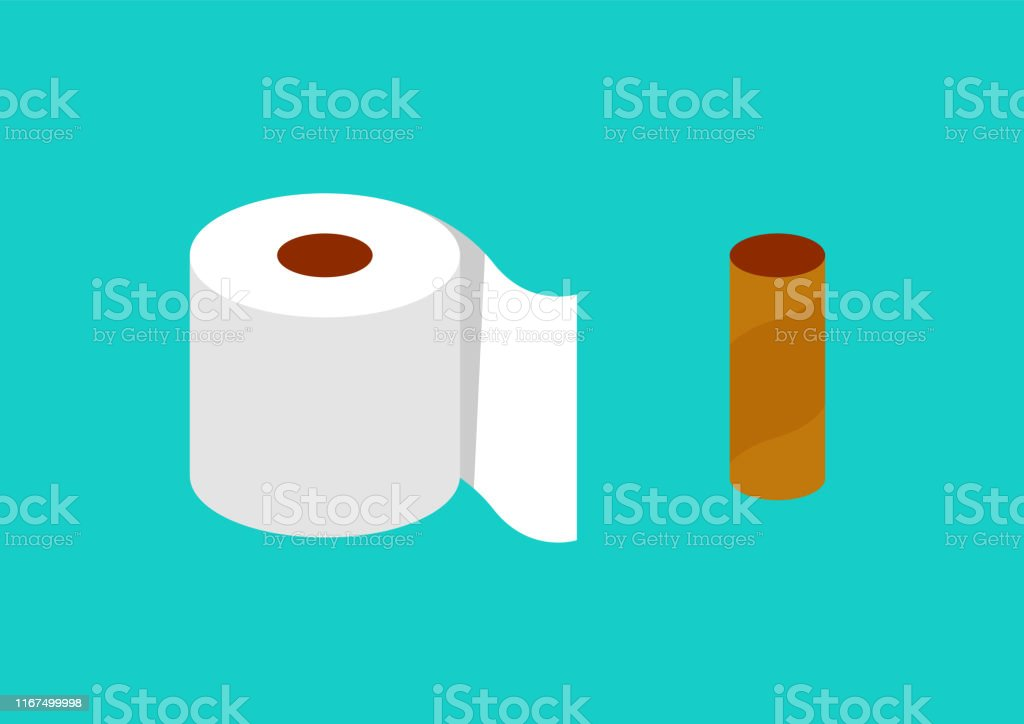 Tissue paper in flat style - arte vettoriale royalty-free di Asciugamano