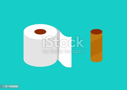 Tissue paper in flat style. vector illustration