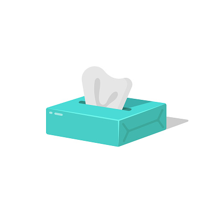 Tissue, Paper Napkins and Wet Wipes Box Icon Flat Design.