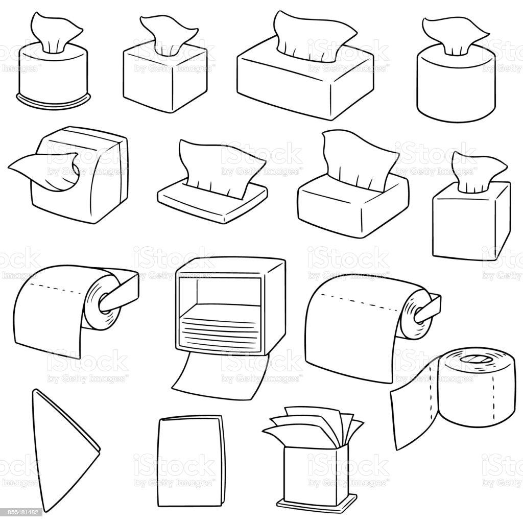 tissue paper vector art illustration