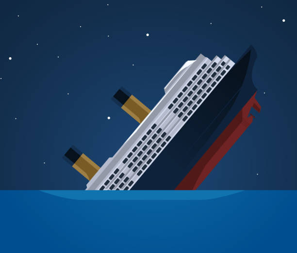 Titanic Eisberg transatlantischen versank – Vektorgrafik