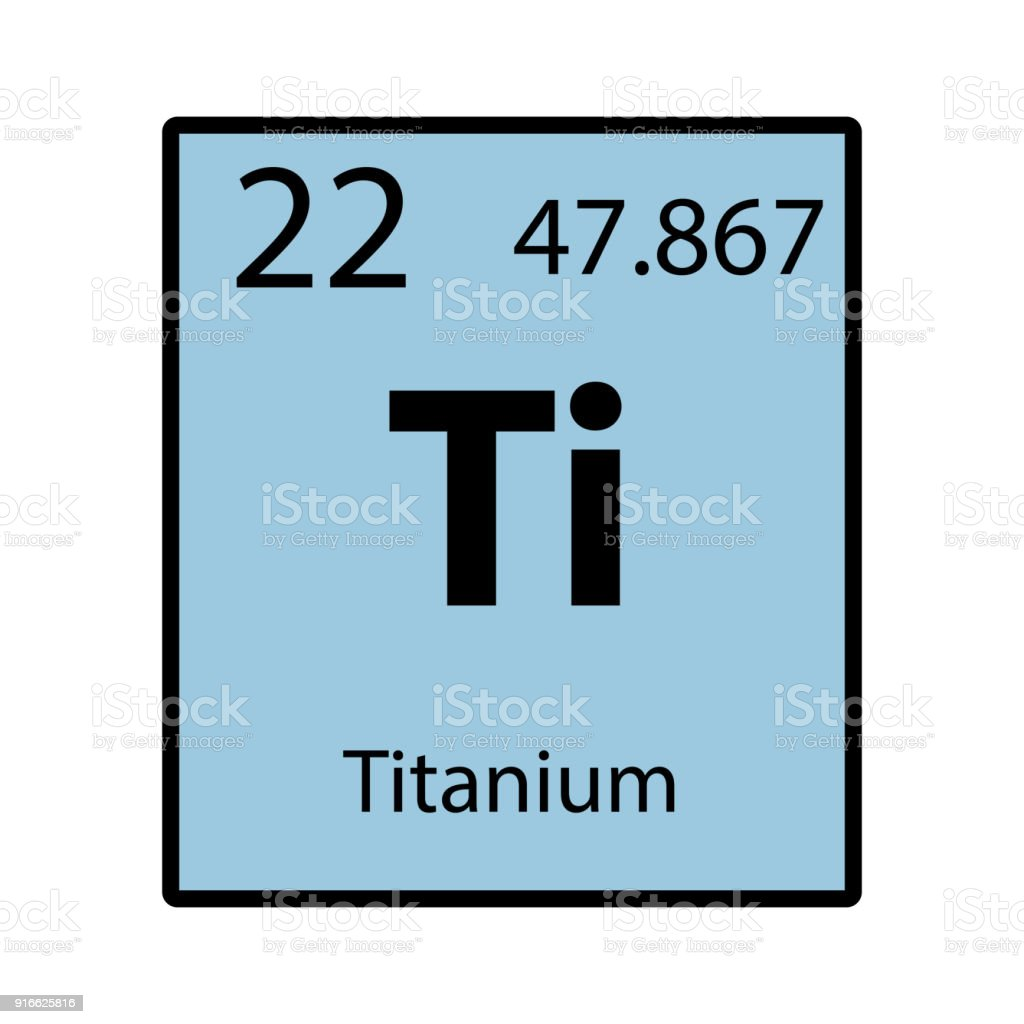 Titanium Periodic Table Element Color Icon On White Background Vector  Vector Art Illustration