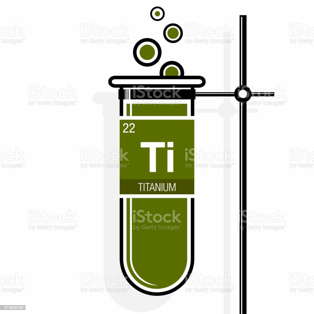 Titanium symbol on label in a green test tube with holder element titanium symbol on label in a green test tube with holder element number 22 of urtaz Choice Image
