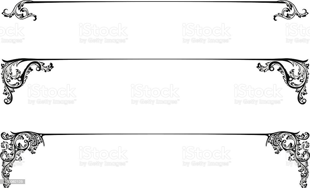Title lines royalty-free stock vector art