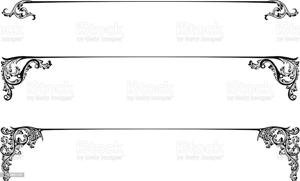 Title lines vector art illustration