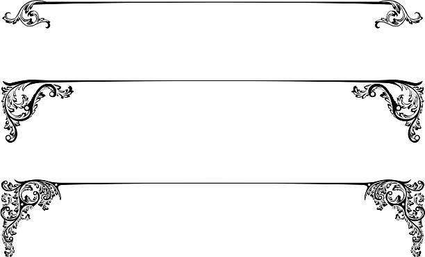 タイトルライン - ロココ調点のイラスト素材/クリップアート素材/マンガ素材/アイコン素材