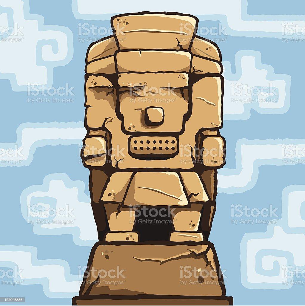 Tlaloc Sculpture royalty-free stock vector art