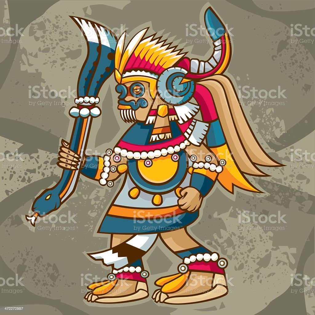 Tlaloc (mexican God of Rain and Fertility) royalty-free stock vector art