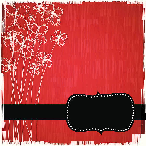Tll flowers background with frame vector art illustration