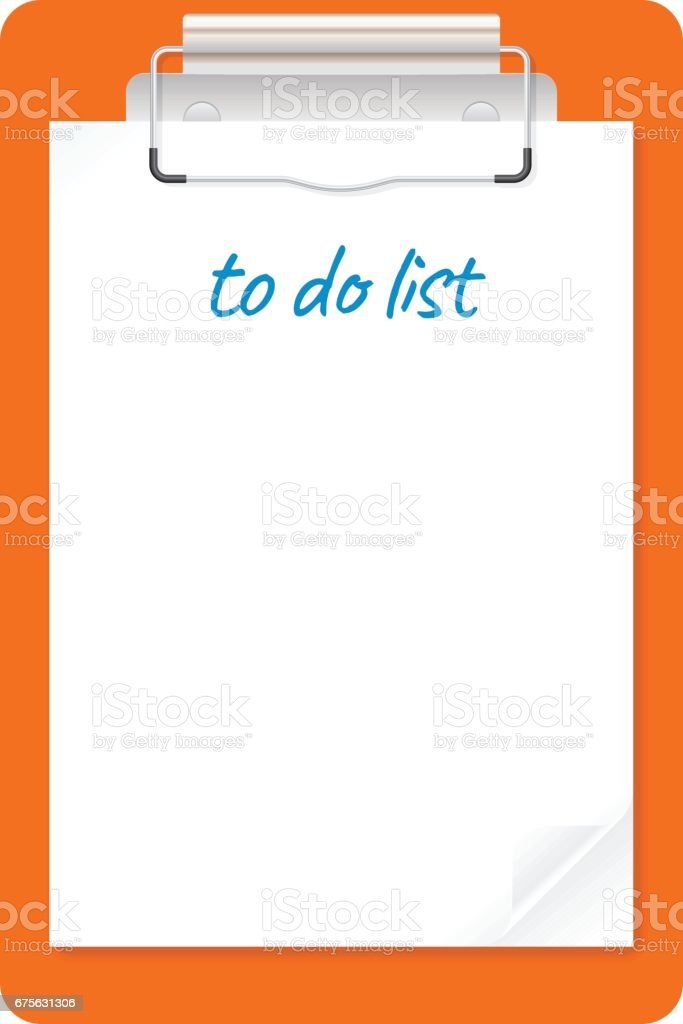 to do list document clipboard list icon vector art illustration