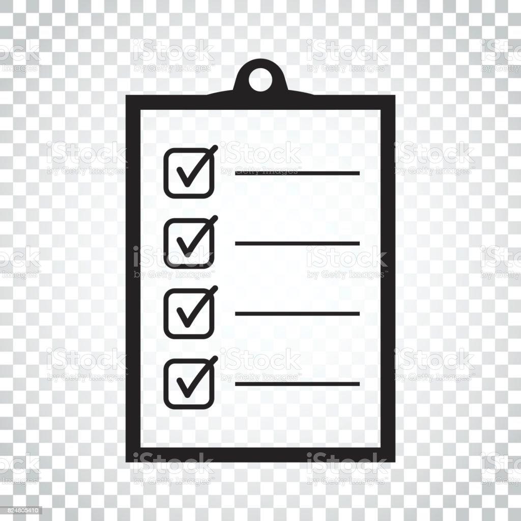 アイコン リストを行いますチェックリストについてはフラット スタイルの
