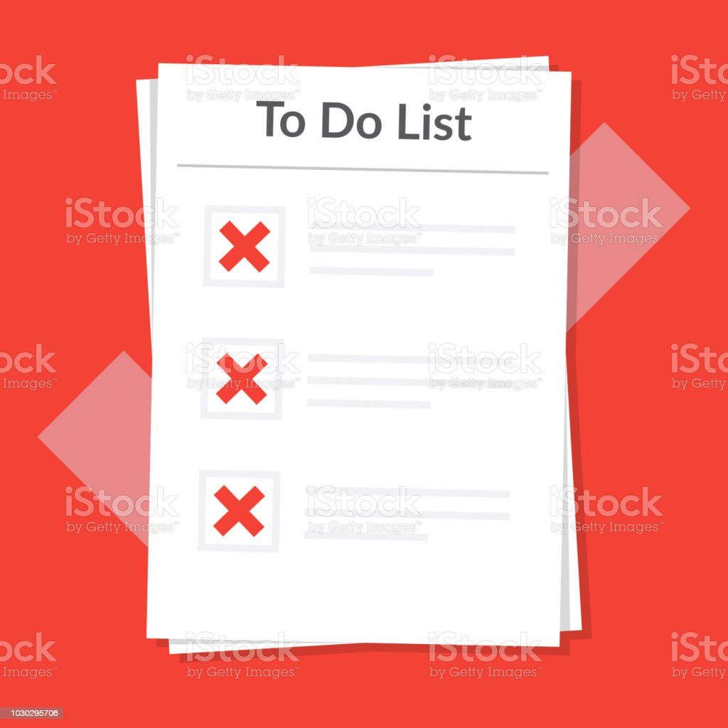 All The Tasks to do list icon concept all tasks are failed planning sign
