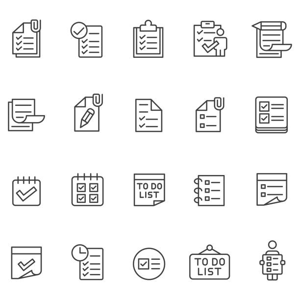 To do list icon set To do list icon set form document stock illustrations