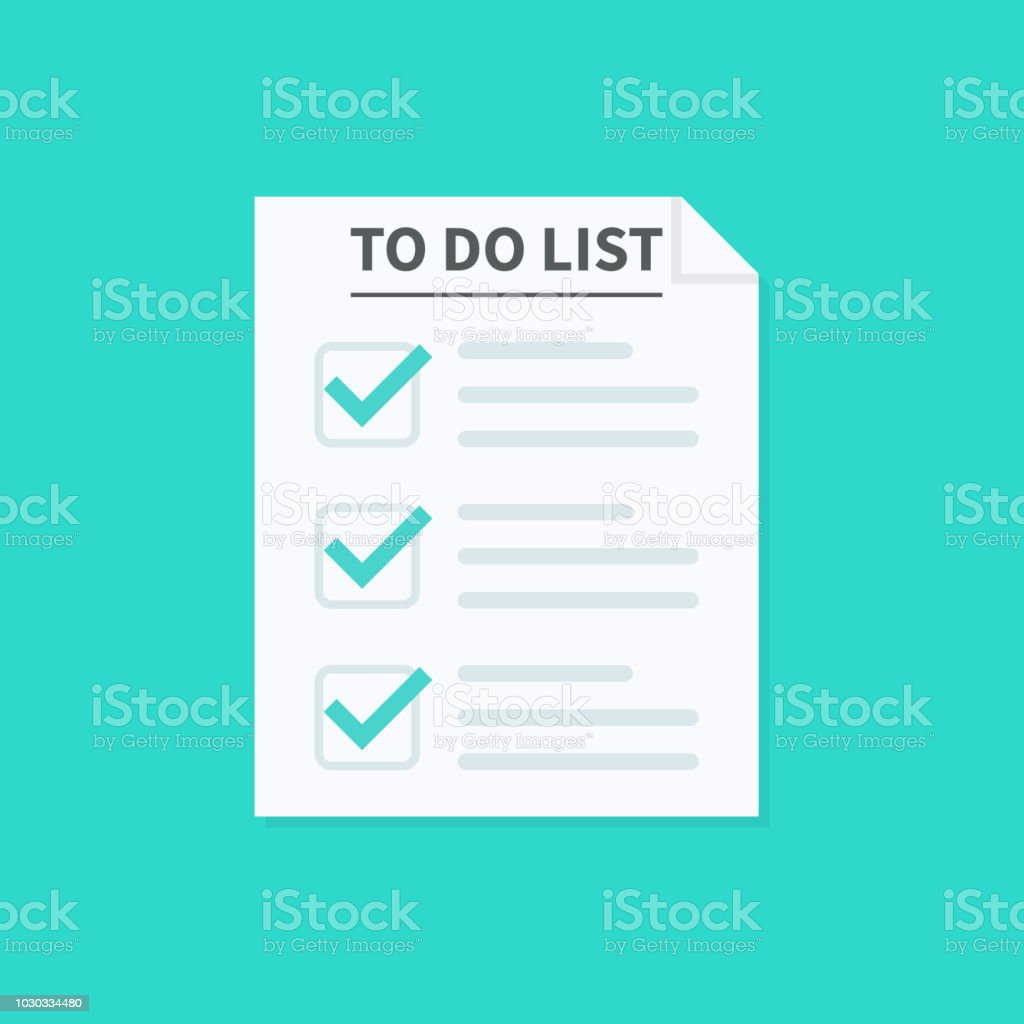 to do list or planning concept paper sheets with check marks icon