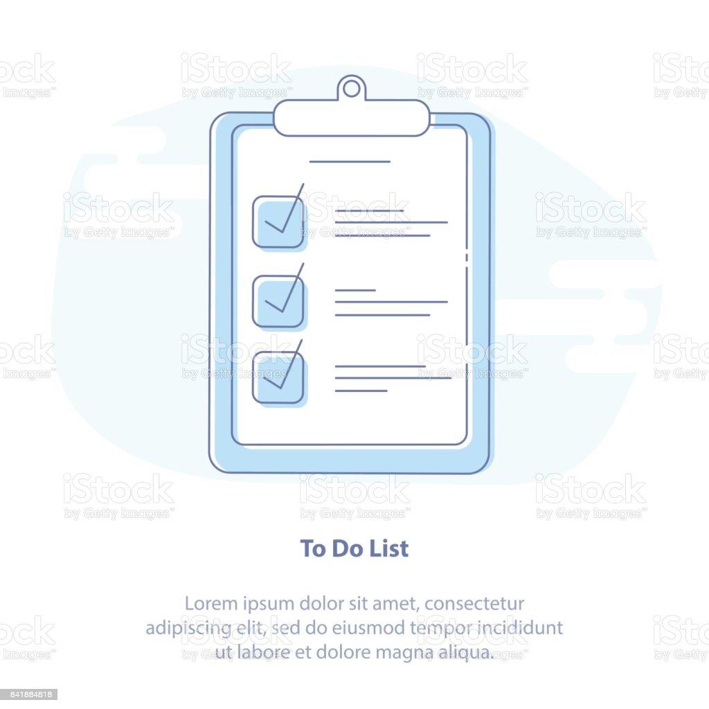 db49cbc64 Ilustración de Lista De Tareas Organizador Portapapeles Y Lista De ...