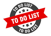 to do list sign. to do list black-red round ribbon sticker
