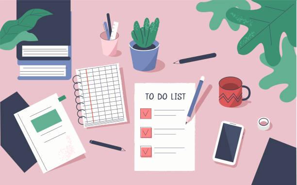 illustrazioni stock, clip art, cartoni animati e icone di tendenza di to do list - to do list